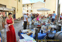 The Piazza Santo Spirito market