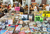 Books and DVDs at the Santo Spirito market