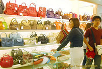 Handbag section of Peruzzi