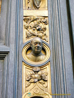 Baptistry bronze door decoration