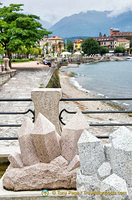 Waterfront promenade in Baveno