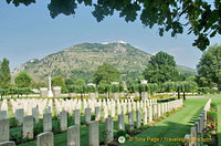Cassino War Cemetery with view of Monte Cassino