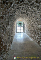 Passage to the exit of Montecassino Abbey