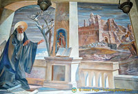 Paintings representing the live of St Benedict