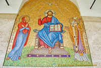 Mosaic of Jesus Christ flanked by the Virgin Mary and St Martin