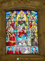 Stained glass window of Montepulciano duomo