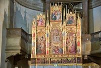 Triptych of the Assumption - painted in 1401 by Taddeo di Bartolo