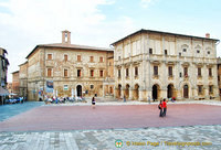 Piazza Grande the main square. Building on the right is Palazzo de'Nobili Tarugi