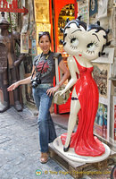 Me and Betty Boop in Orvieto