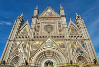 A wealth of artwork on the facade of Orvieto Duomo