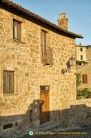 Houses at the western edge of Orvieto