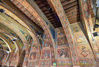 Frescoes in the Sala dei Notari represent legends and biblical stories