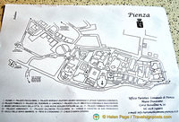 Map of Pienza