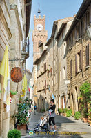 Corso Rossellino is the main street in Pienza