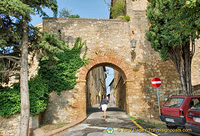 One of the gateways of Pienza