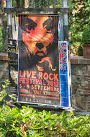 Poster for a rock festival in Pienza