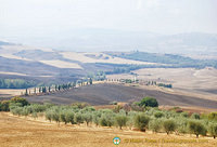 View of Val d'Orcia from Pienza
