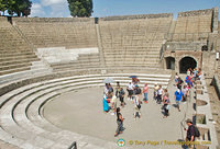 Pompeii Teatro Piccolo - the small theatre used for musical and poetry recitations