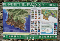 Map and information about the Portofino marine park