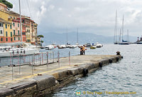 One of the piers at Portofino harbour
