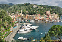 View down to the Portofino marina