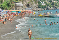 On the beach in Positano