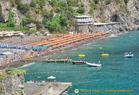 View of Positano's main beach