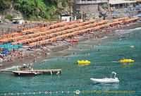 View of Positano beach