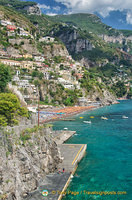 View of Positano coast