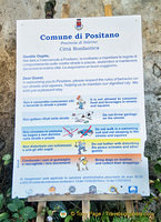 Some things you should not do in Positano - or face the possibility of fines