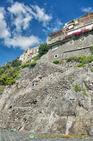 Cliff-top residences in Positano