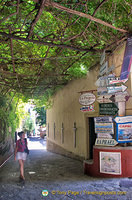 Exploring the laneways of Positano
