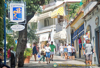 Via Cristoforo Colombo, the main street of Positano