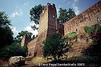 Ancient City Wall in south of Rome