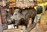 An ad for cinghiale or wild boar salami