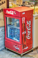 A mini Coke refrigerator