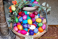 Colourful marble eggs