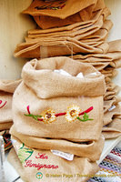 Little jute sacks you can use for bread and other storage