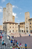 View of Piazza Duomo and the San Gimignano towers