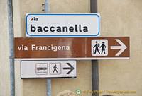 Via Baccanella, near the car park