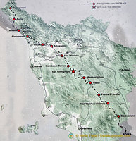 The Via Francigena in Tuscany