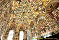 Ceiling of the Piccolomini Library painted by Pinturicchio c.1502