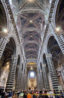 View of Siena Cattedrale nave and vault