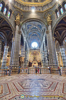 Inlaid marble mosaic floor of Siena Cattedrale