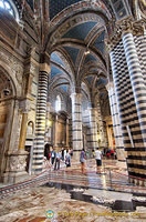 Ornate interior of Siena Cattedrale