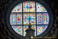 Siena Cattedrale stained-glass window