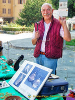 See his folder of classical jewelry that he makes copies of