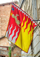 Contrada del Montone has the lamb on its emblem