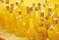 Bottles of limoncello