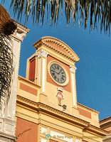 The clock tower on Piazza Tasso
